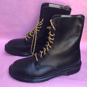 New black Dr. Martens leather boots